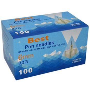 سوزن قلم انسولین بست پن 6 میلی متر 100 عددی